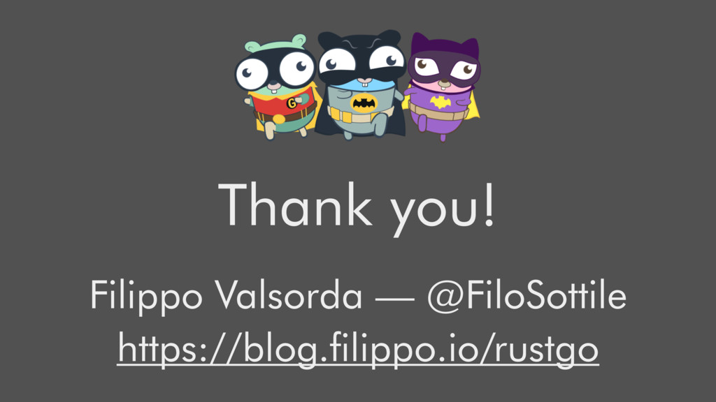 Thank you! Filippo Valsorda — @FiloSottile http...