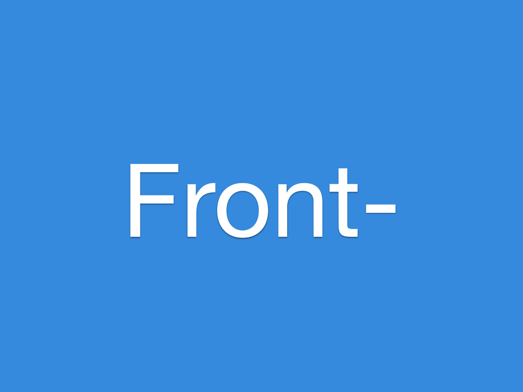 Front-