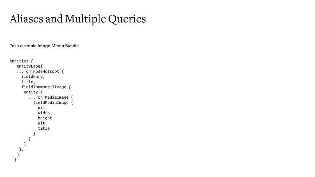 Aliases and Multiple Queries Take a simple Imag...