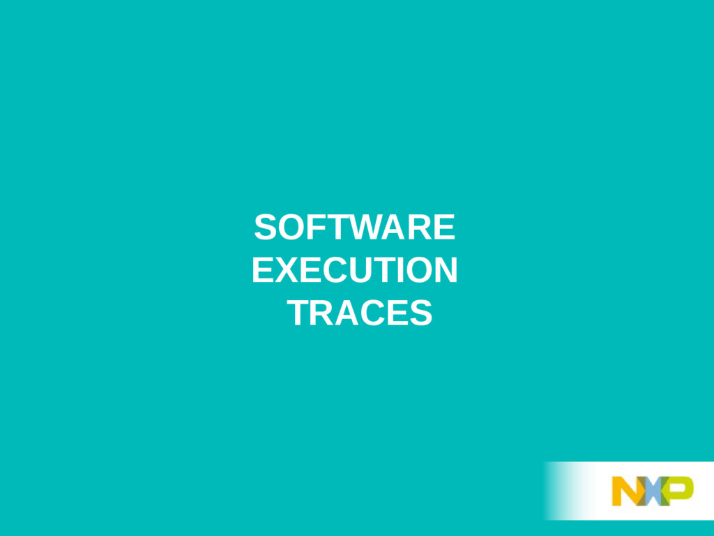 SOFTWARE EXECUTION TRACES