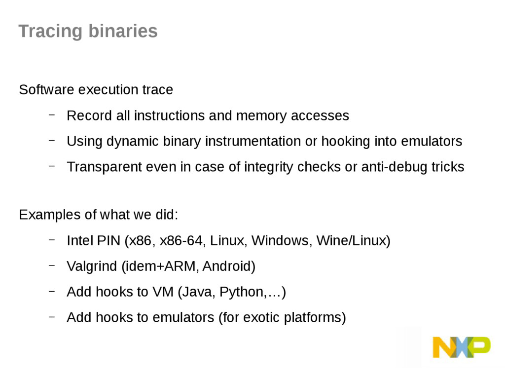 Software execution trace – Record all instructi...