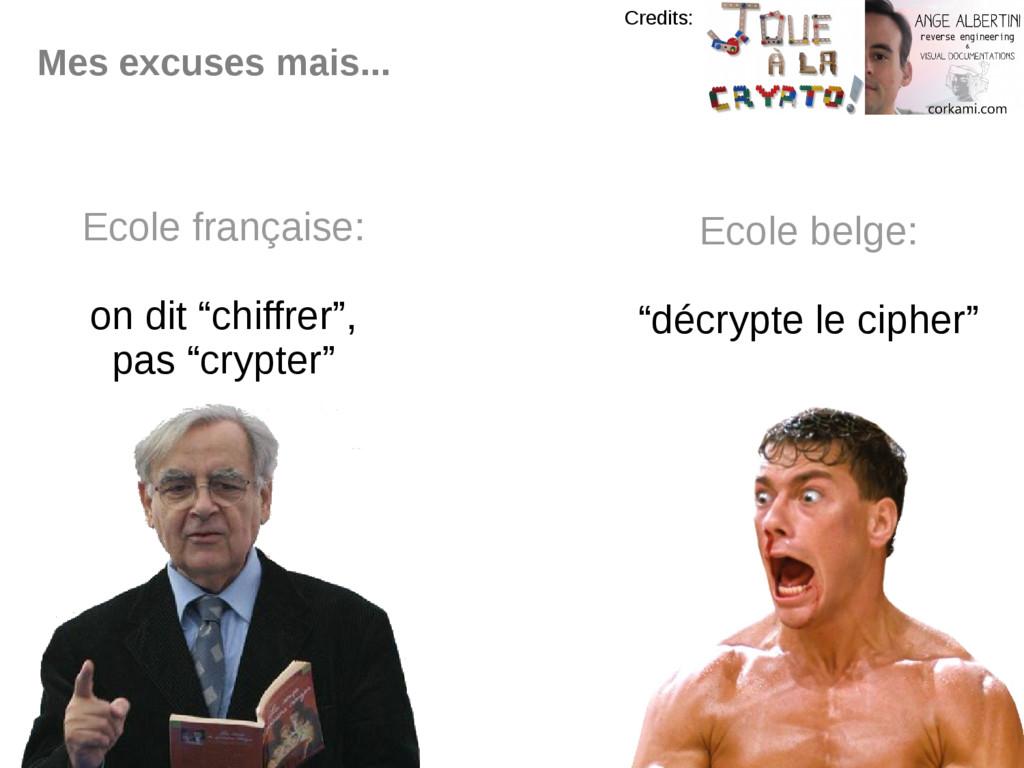 """Mes excuses mais... Ecole française: on dit """"ch..."""