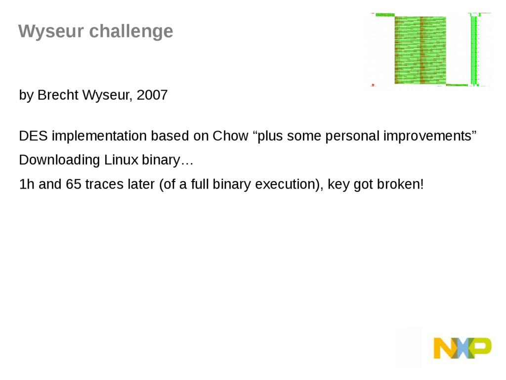 Wyseur challenge by Brecht Wyseur, 2007 DES imp...