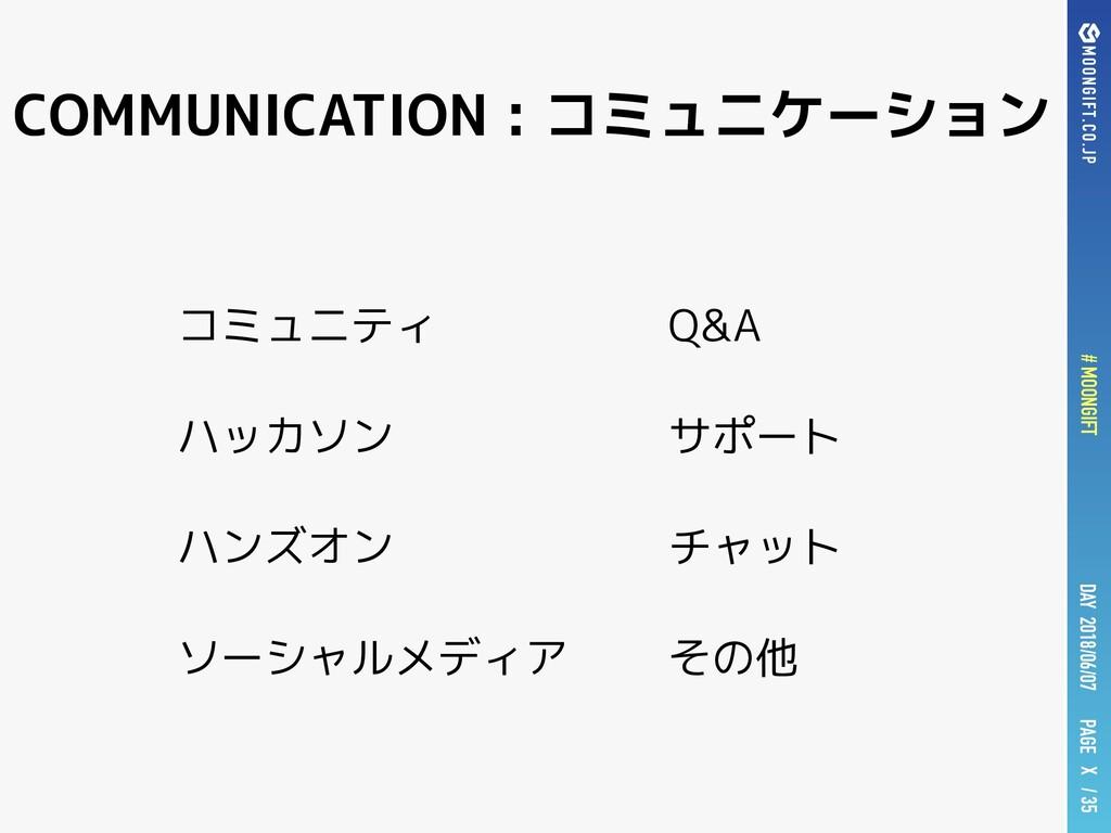 PAGE # MOONGIFT X / 35 DAY 2018/06/07 コミュニティ ハッ...