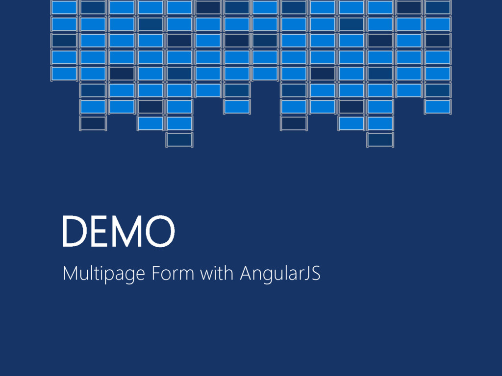 DEMO Multipage Form with AngularJS