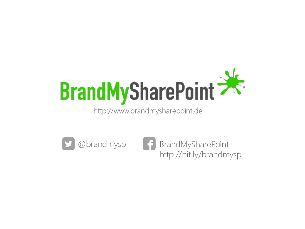 @brandmysp BrandMySharePoint http://bit.ly/bran...