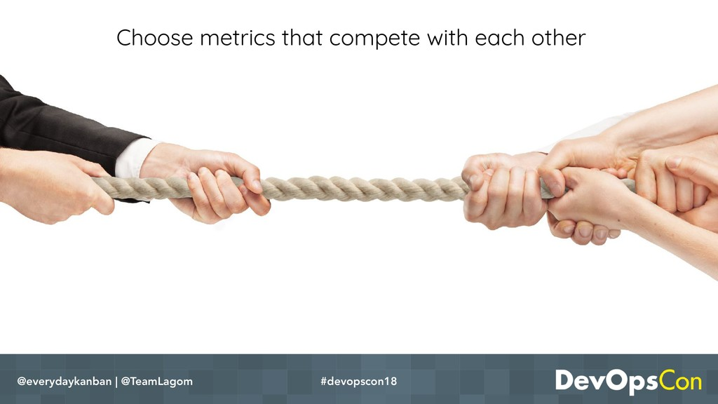 Choose metrics that compete with each other @ev...