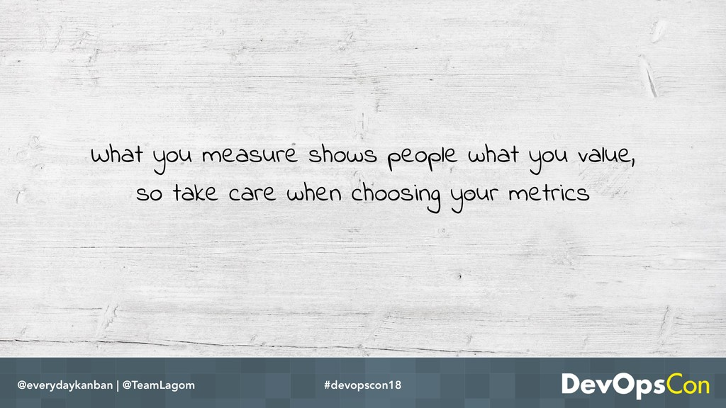 What you measure shows people what you value, s...