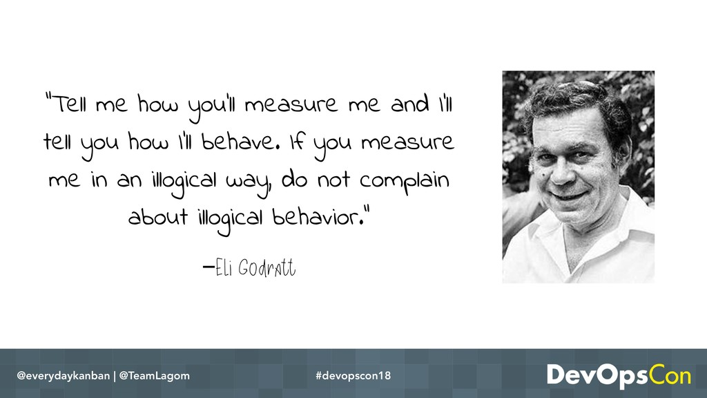 "–Eli Godratt ""Tell me how you'll measure me and..."