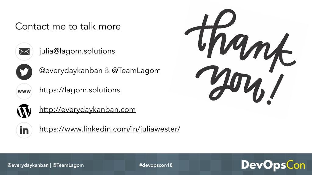 @everydaykanban | @TeamLagom #devopscon18 julia...