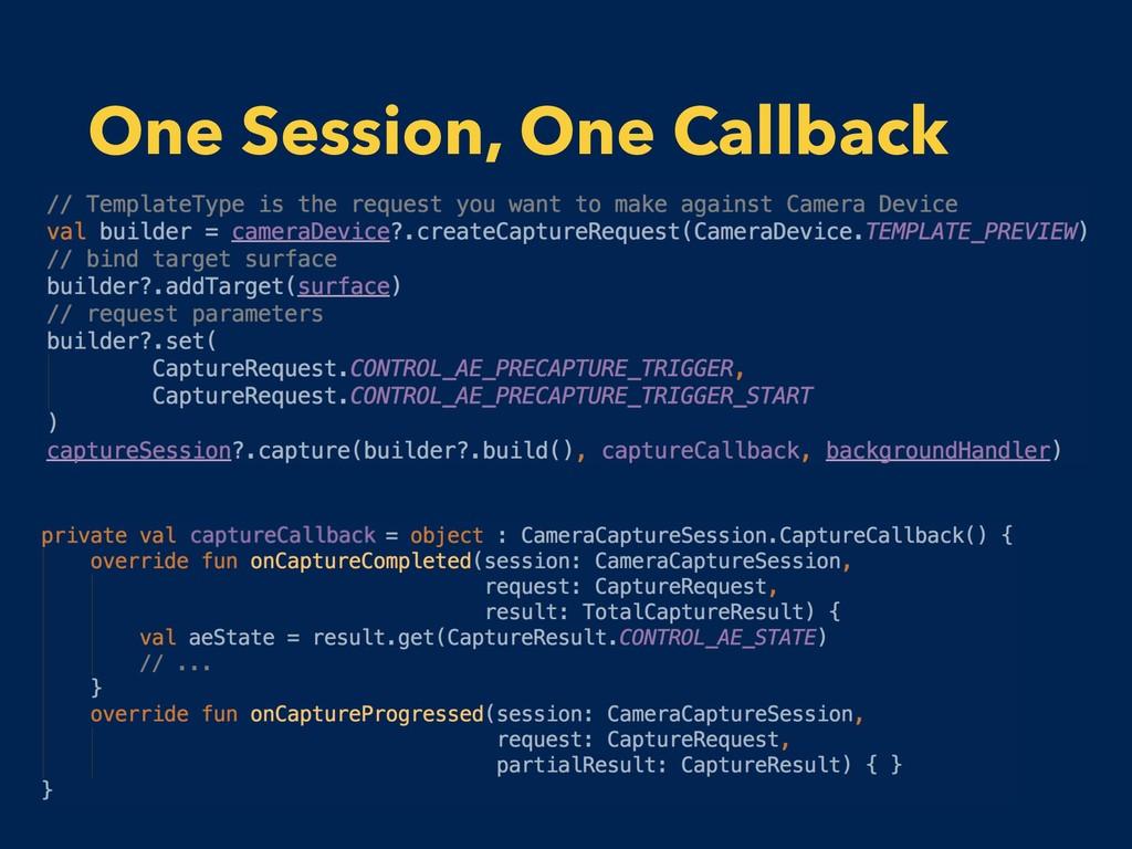 One Session, One Callback