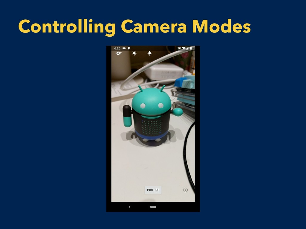 Controlling Camera Modes