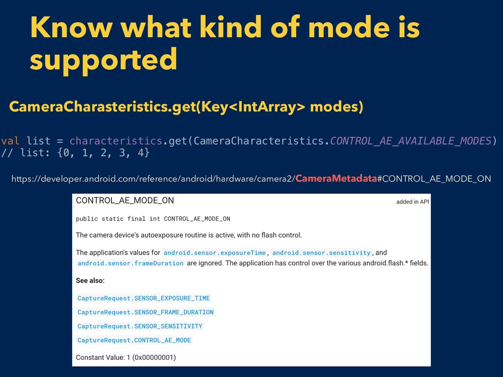 Know what kind of mode is supported val list = ...