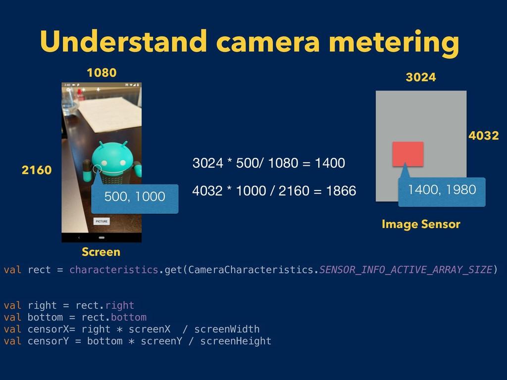 Understand camera metering 3024 4032 Image Sens...