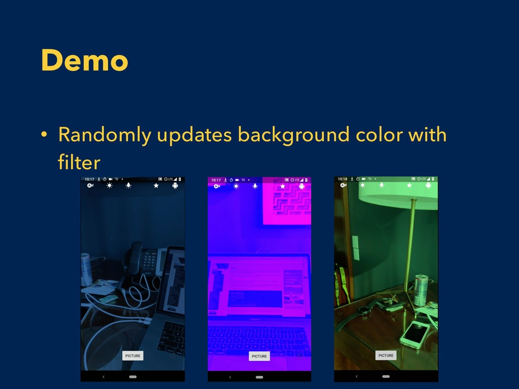 Demo • Randomly updates background color with fi...