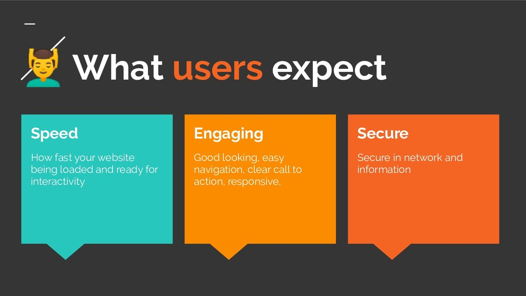‍♂ What users expect Secure Secure in network a...