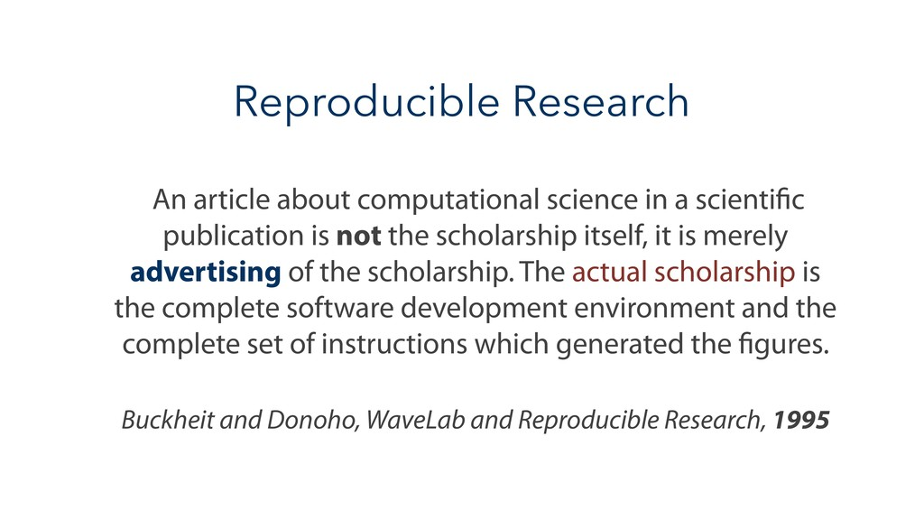 Reproducible Research An article about computat...