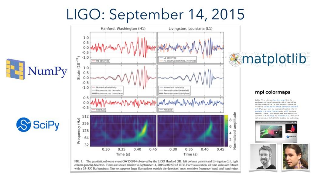 LIGO: September 14, 2015