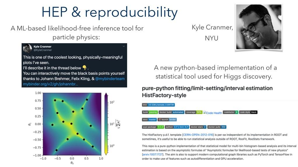 HEP & reproducibility A ML-based likelihood-fre...