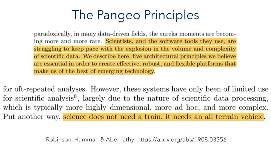 The Pangeo Principles Robinson, Hamman & Aberna...