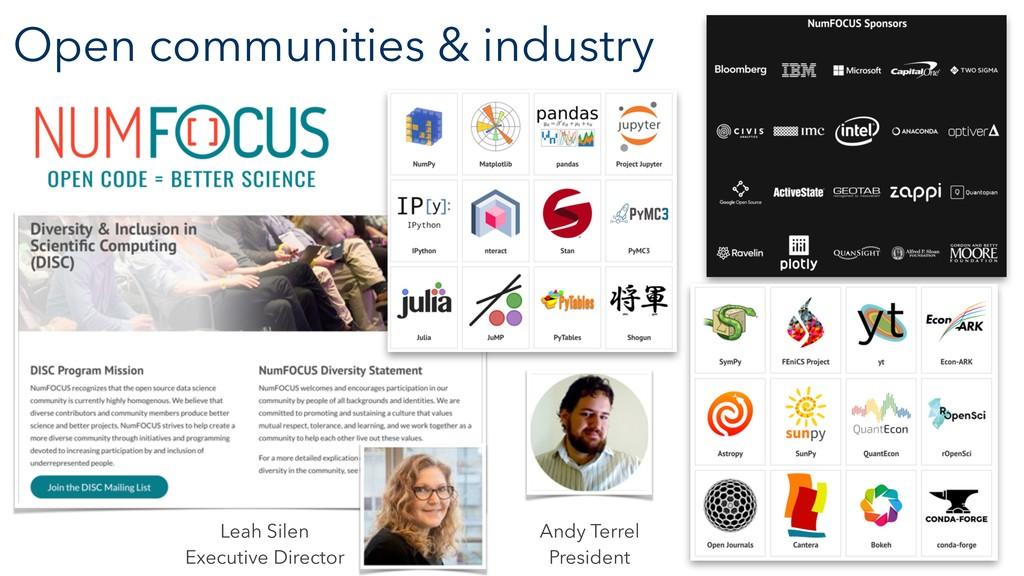 Open communities & industry Leah Silen Executiv...