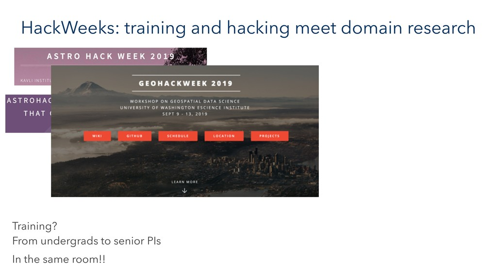 HackWeeks: training and hacking meet domain res...