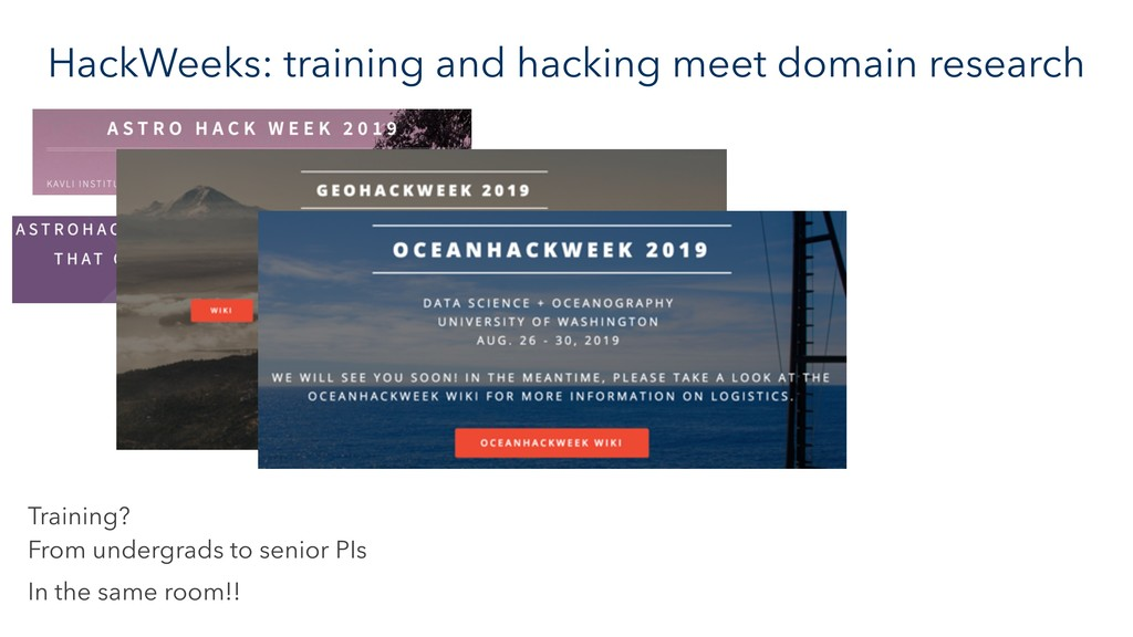 HackWeeks: training and hacking meet domain res...