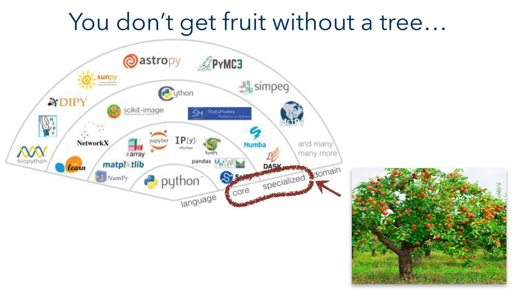 You don't get fruit without a tree…
