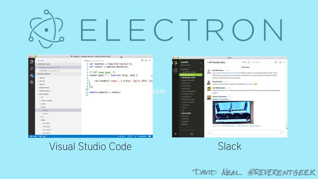 Atom Slack Visual Studio Code