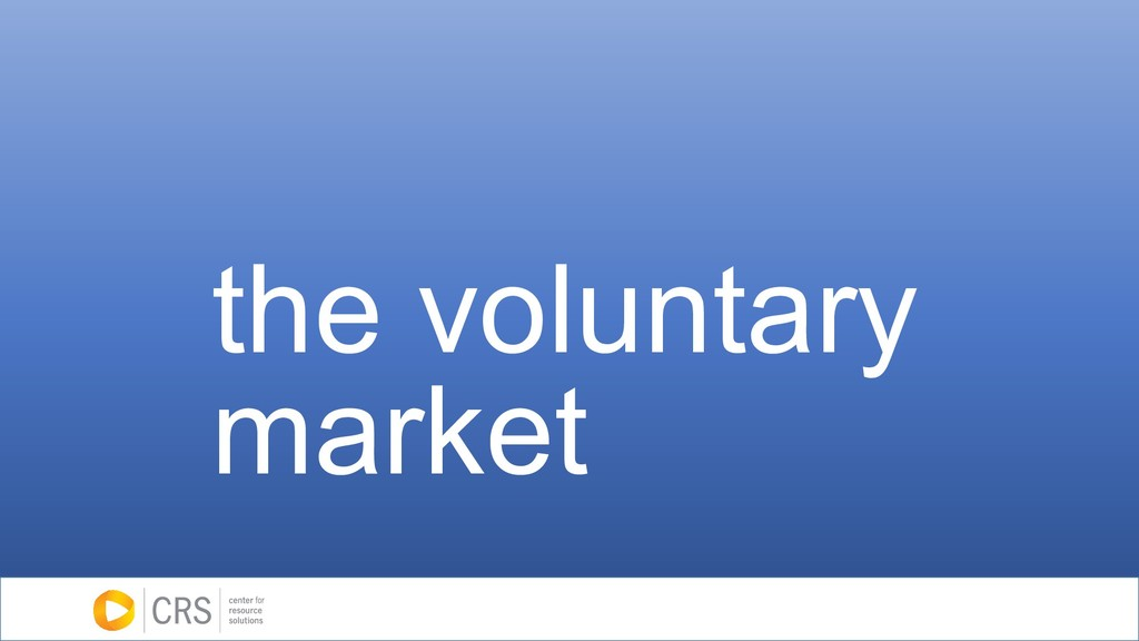 the voluntary market