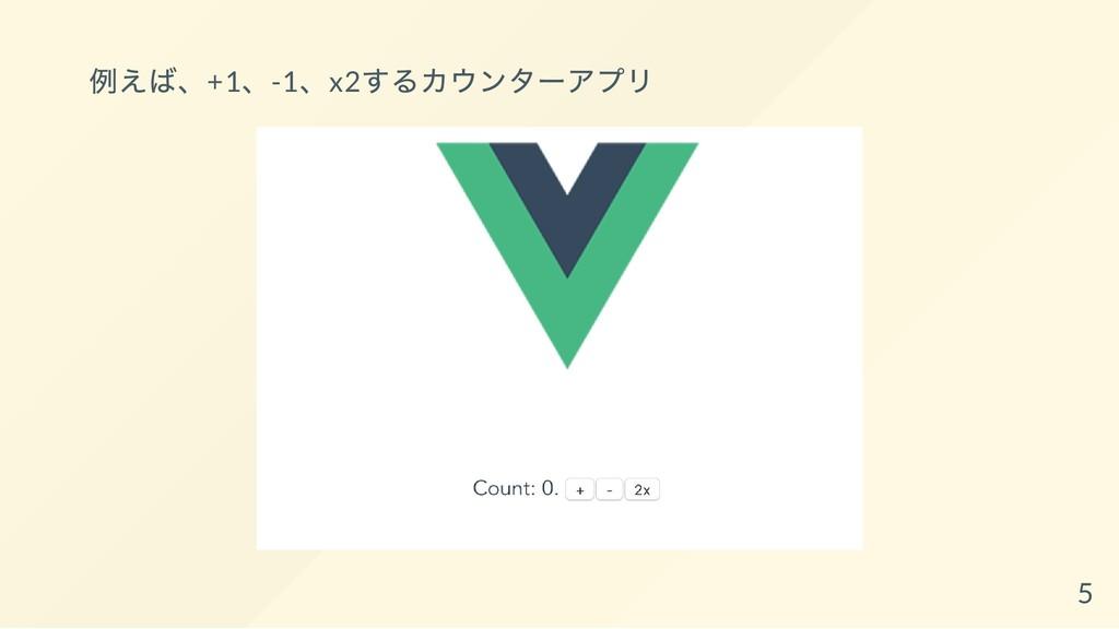 例えば、+1、-1、x2 するカウンター アプリ 5
