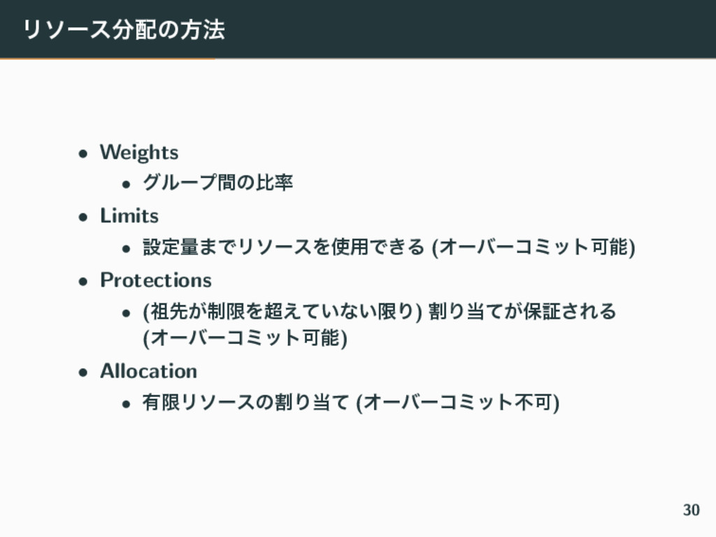 Ϧιʔεͷํ๏ • Weights • άϧʔϓؒͷൺ • Limits • ઃఆྔ·Ͱ...