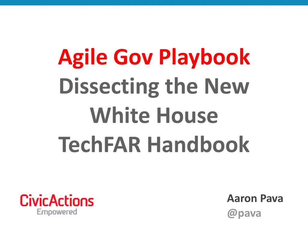 Agile Gov Playbook  Dissecting the...