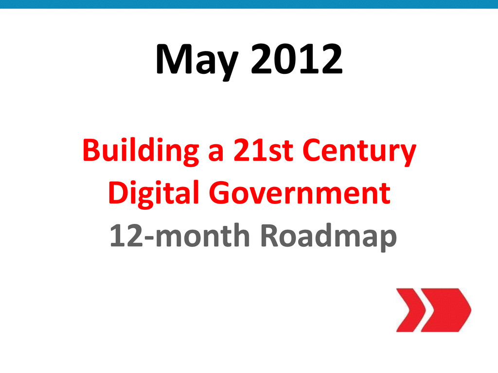 May 2012 Building a 21st Century ...