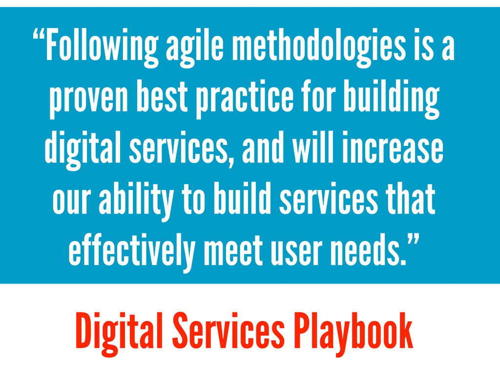 """Following agile methodologies is a proven best..."
