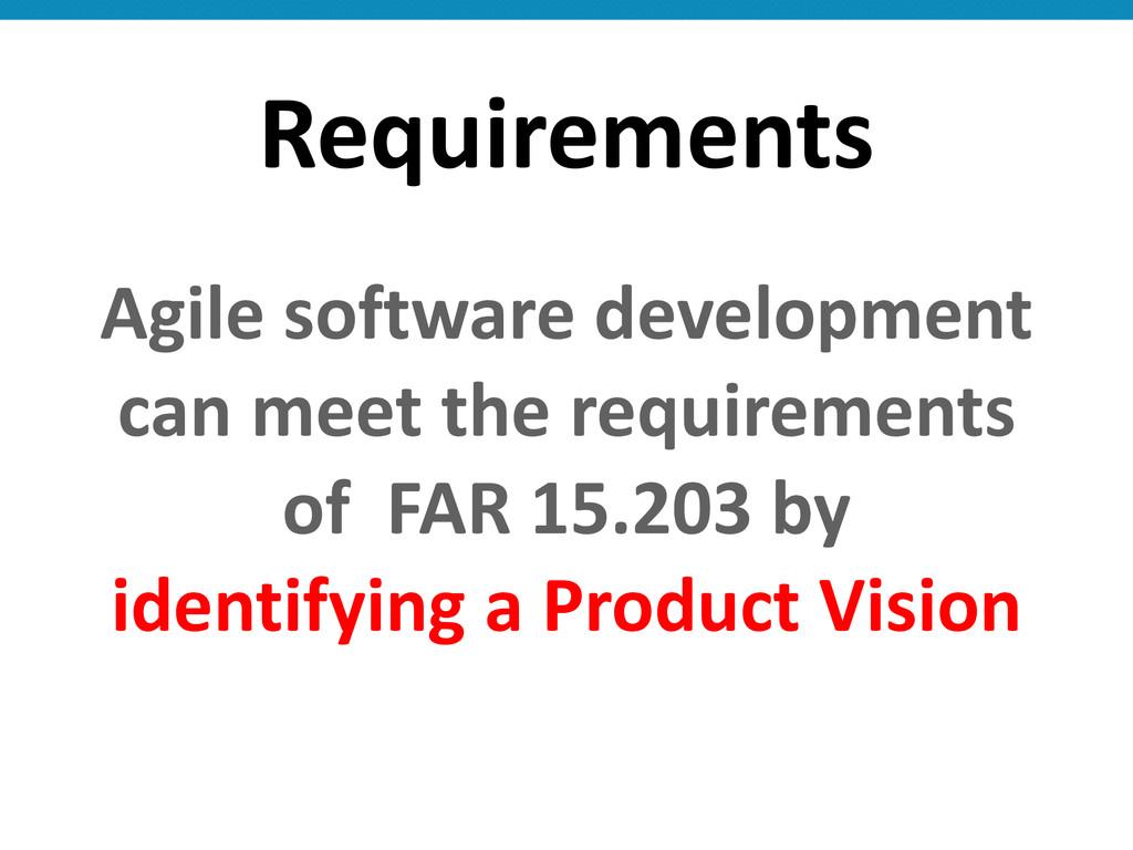 Requirements Agile software development...