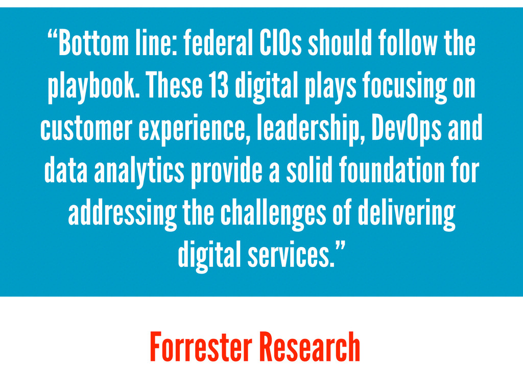 """Bottom line: federal CIOs should follow the pl..."