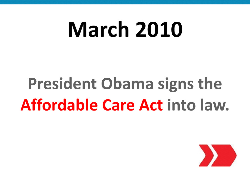 March 2010 President Obama signs th...