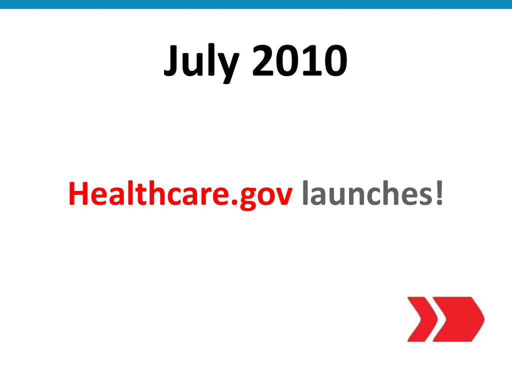 July 2010 Healthcare.gov launches!