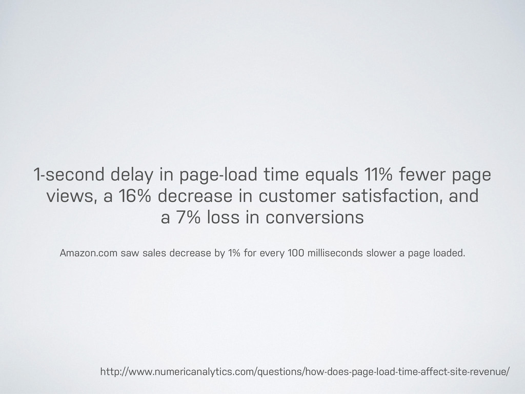 1-second delay in page-load time equals 11% few...