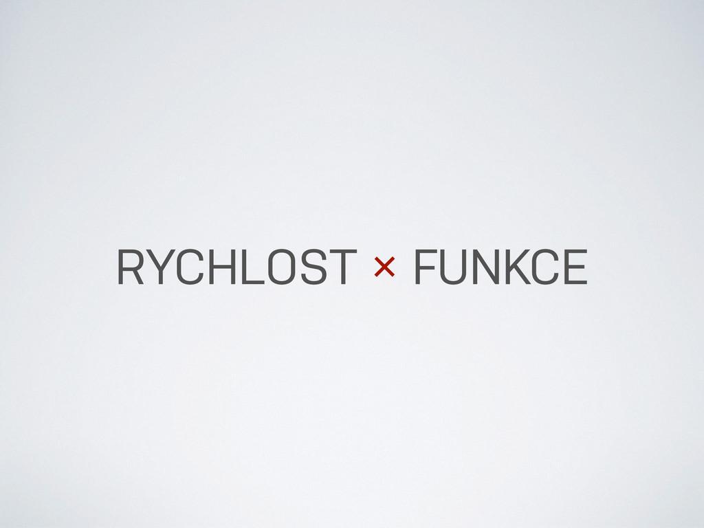 RYCHLOST × FUNKCE