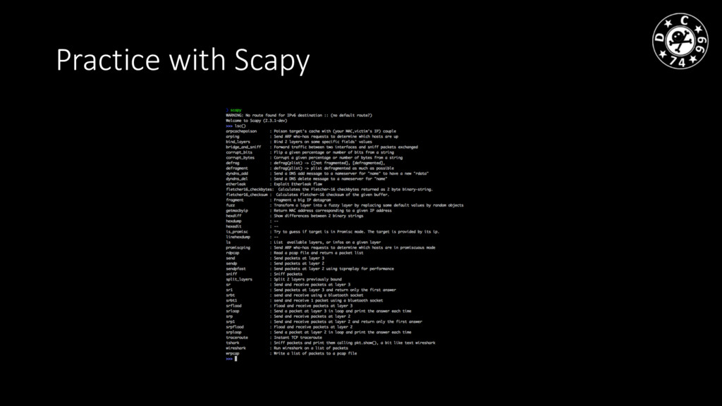 Practice with Scapy