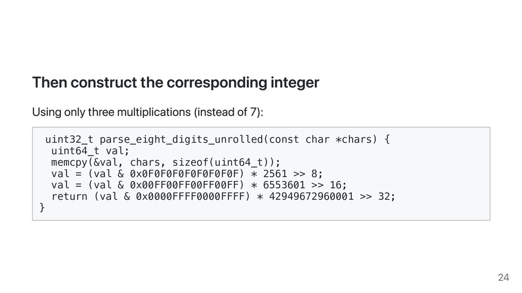Then construct the corresponding integer Using ...