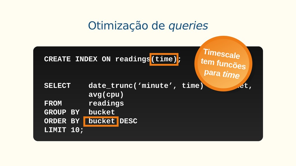 PG doesn't know to use the index Otimização de ...