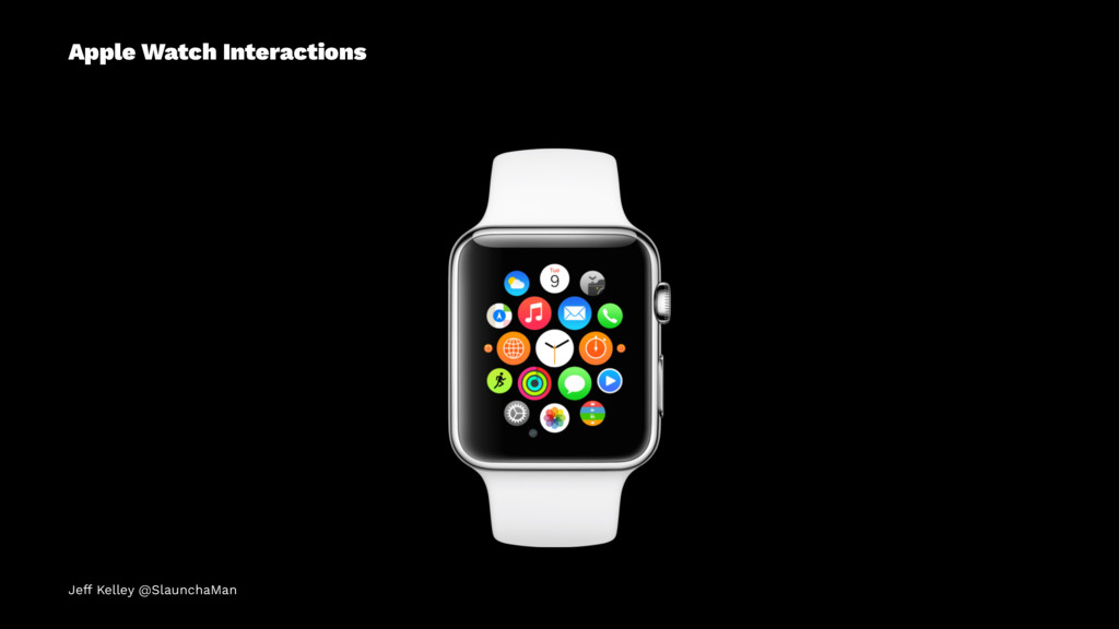 Apple Watch Interactions Jeff Kelley @SlaunchaM...