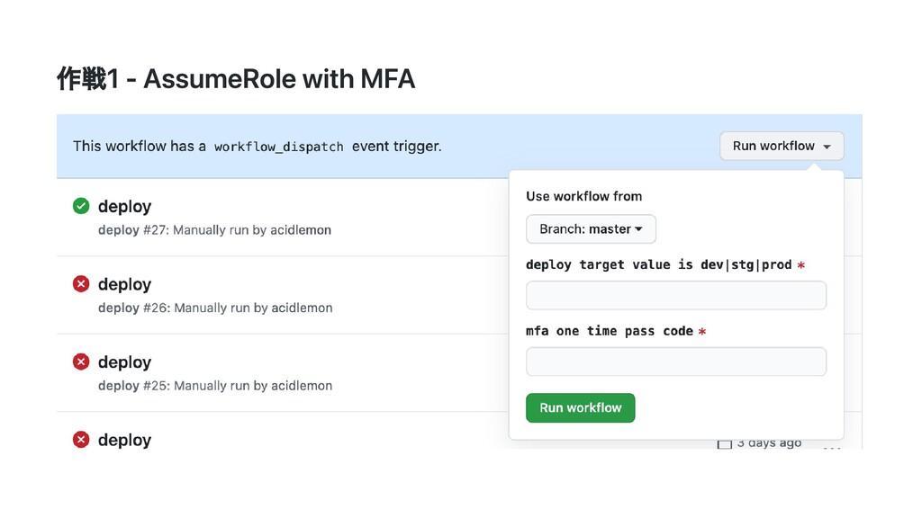 作戦1 - AssumeRole with MFA