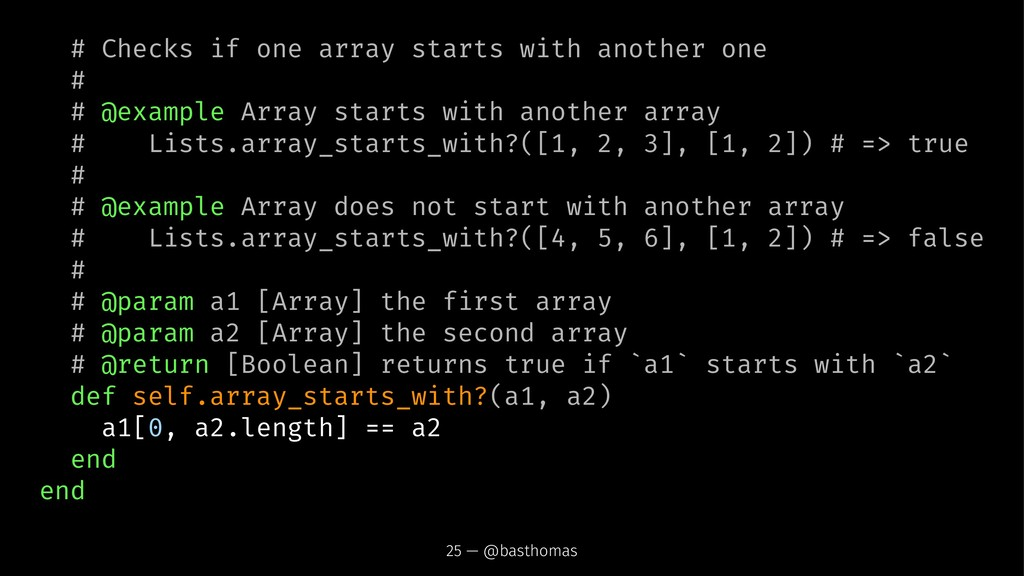 # Checks if one array starts with another one #...