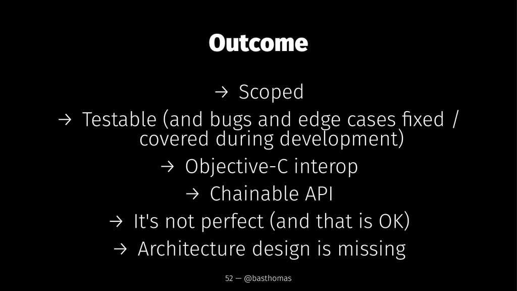 Outcome → Scoped → Testable (and bugs and edge ...