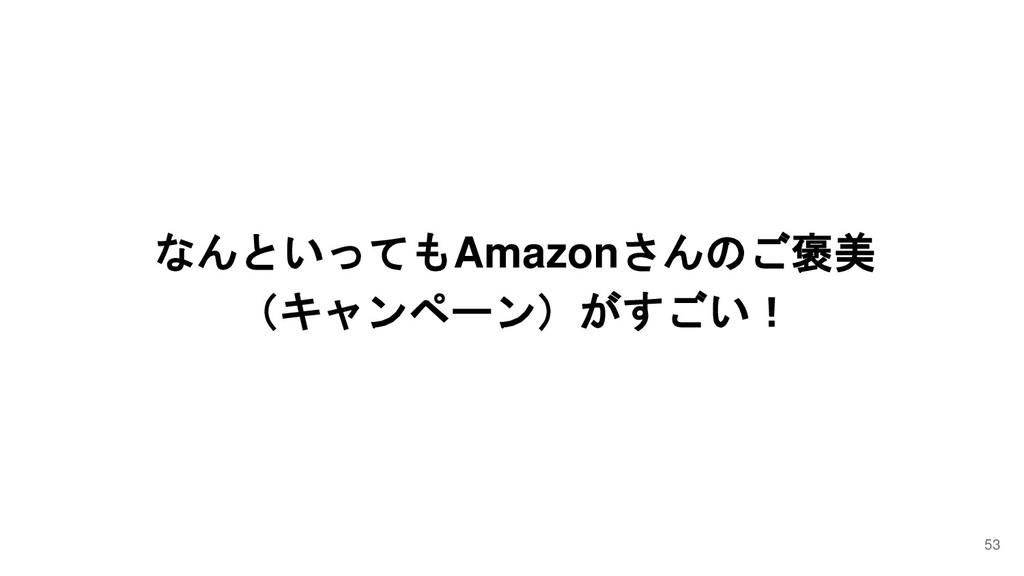 なんといってもAmazonさんのご褒美 (キャンペーン)がすごい! 53