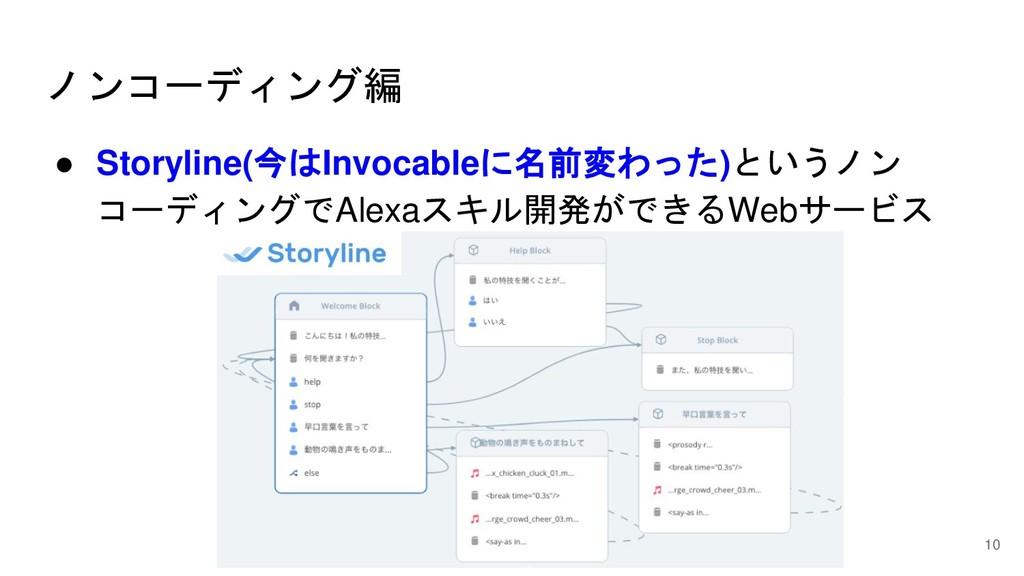 ノンコーディング編 ● Storyline(今はInvocableに名前変わった)というノン ...